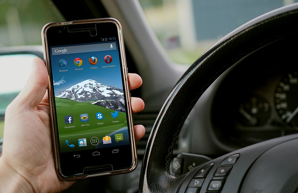 Mobile device shows various apps developed for smartphones